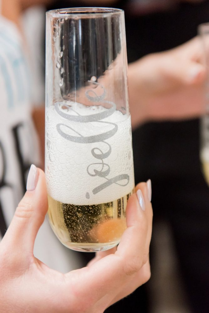 Personalized Stemless Champagne Glass: Wedding Ideas & Details: Best of 2017 from Burgh Brides