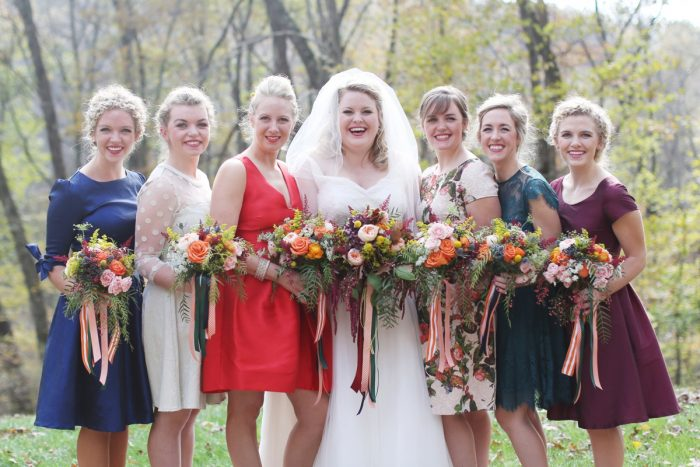 Mismatched Bridesmaids Dresses Fall Wedding: Wedding Ideas & Details: Best of 2017 from Burgh Brides