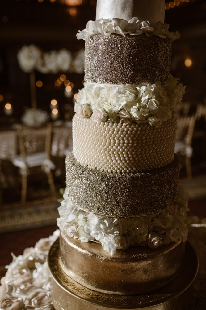 Beaded Wedding Cake: Wedding Ideas & Details: Best of 2017 from Burgh Brides
