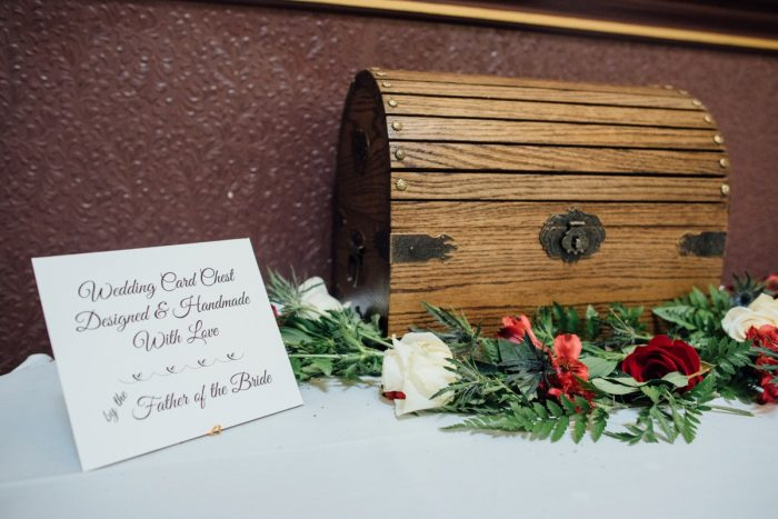 Wooden Card Box at Wedding Reception: Wedding Ideas & Details: Best of 2017 from Burgh Brides