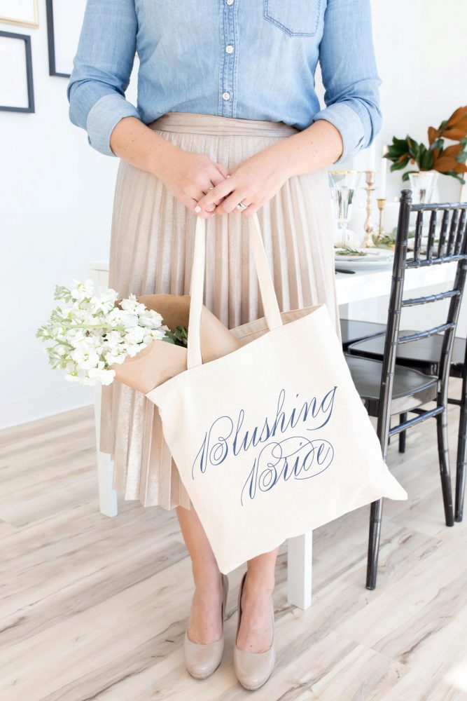 Bride Tote Bag: Engagement Gift Ideas from Burgh Brides