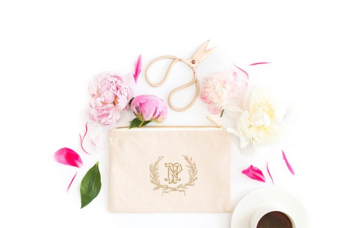 Custom Monogram Makeup Case: Engagement Gift Ideas from Burgh Brides