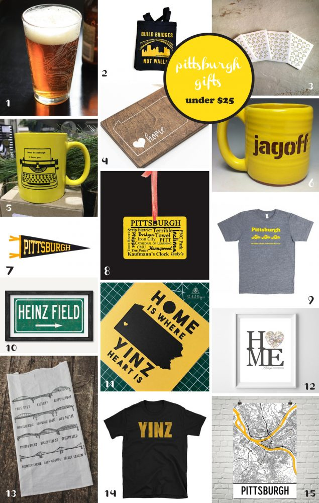 Pittsburgh Gift Ideas Under $25: Pittsburgh Gift Guide from Burgh Brides
