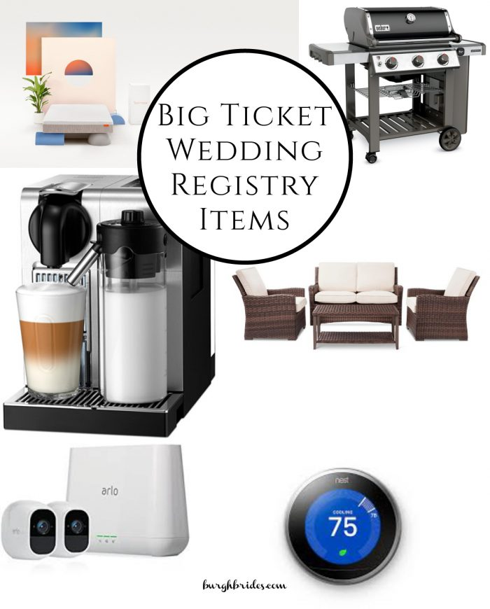 6 Big Ticket Wedding Registry Items You Won't Think to Add from Burgh Brides