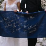 Unique Wedding Signs: Blue & Gold Literary Inspired Wedding Styled Shoot from Kaitlin Powell Photography and Exhale Events featured on Burgh Brides