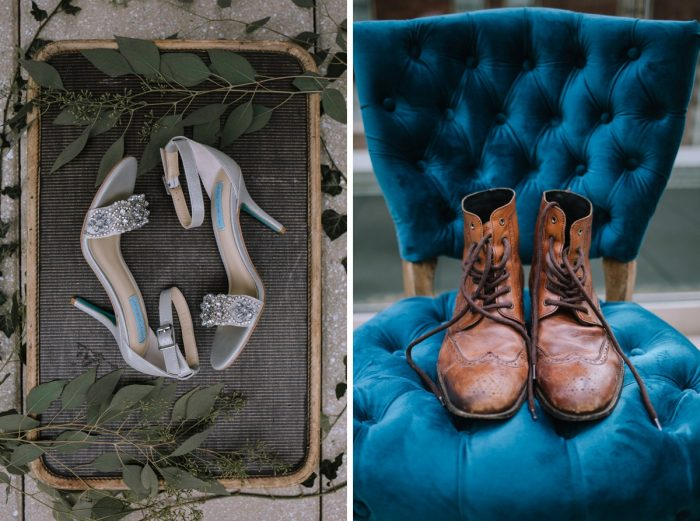 Wedding Shoes: Blue & Gold Literary Inspired Wedding Styled Shoot from Kaitlin Powell Photography and Exhale Events featured on Burgh Brides