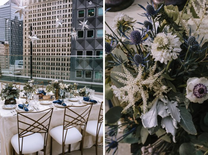 Blue & Gold Literary Inspired Wedding Styled Shoot from Kaitlin Powell Photography and Exhale Events featured on Burgh Brides