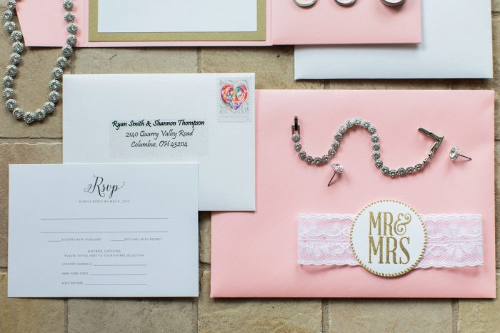 Pink Lace Wedding Invitations: Bright Vintage Inspired Wedding from Lauren Renee Designs featured on Burgh Brides