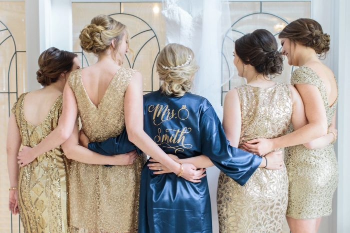 Custom Bridal Wedding Day Robe: Bright Vintage Inspired Wedding from Lauren Renee Designs featured on Burgh Brides