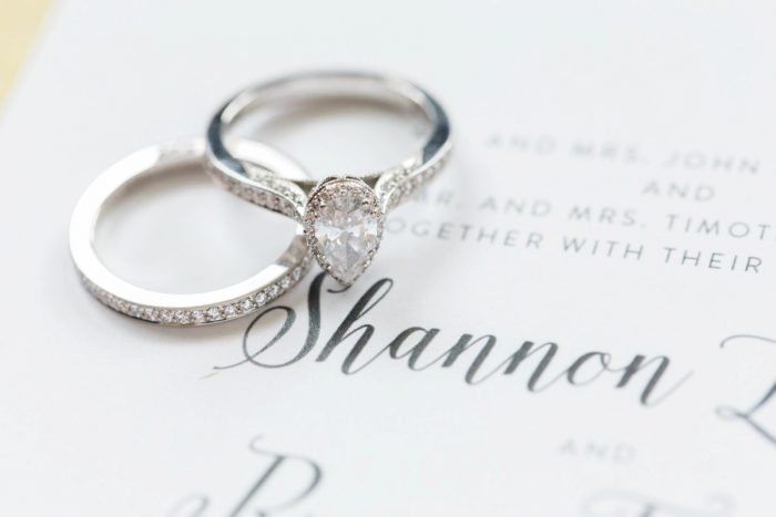Pear Shaped Diamond Engagement Ring: Bright Vintage Inspired Wedding from Lauren Renee Designs featured on Burgh Brides