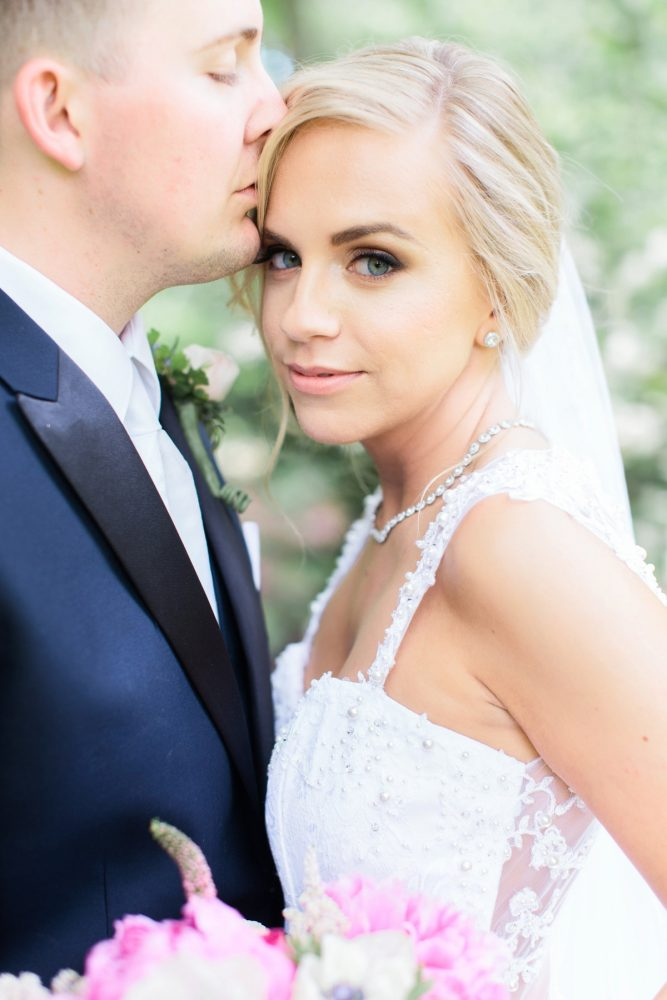 Soft Bridal Makeup Ideas: Bright Vintage Inspired Wedding from Lauren Renee Designs featured on Burgh Brides
