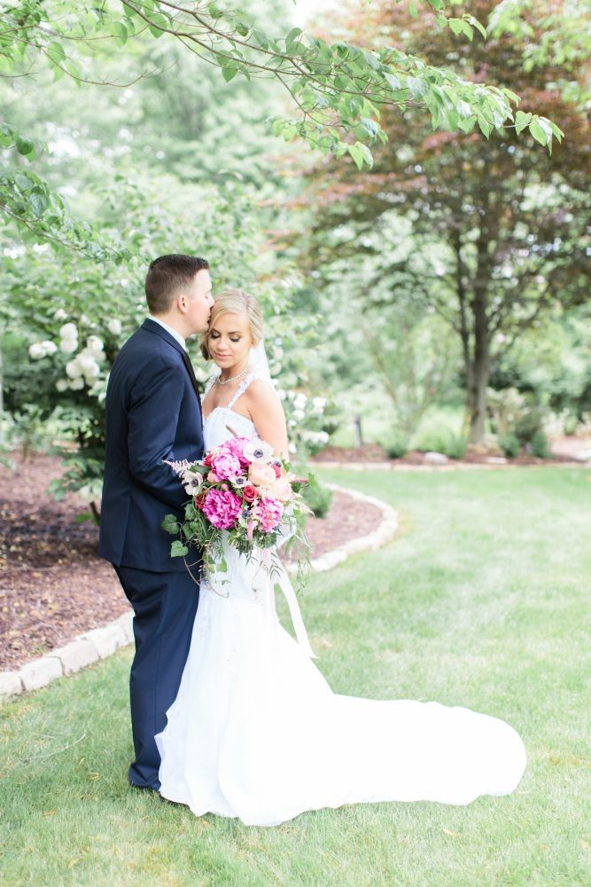 Bright Pink Wedding Day Bridal Bouquet: Bright Vintage Inspired Wedding from Lauren Renee Designs featured on Burgh Brides