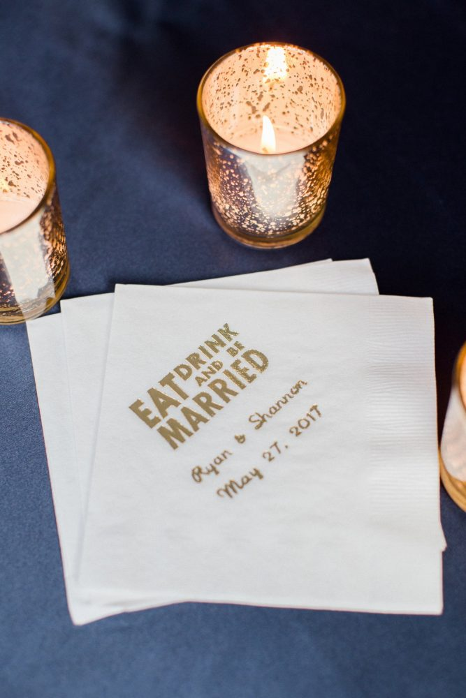 Custom Wedding Cocktail Napkins: Bright Vintage Inspired Wedding from Lauren Renee Designs featured on Burgh Brides