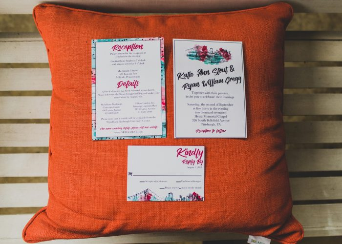 Colorful Wedding Invitations: Fun Music Inspired Wedding from Ryan Zarichnak Photography featured on Burgh Brides