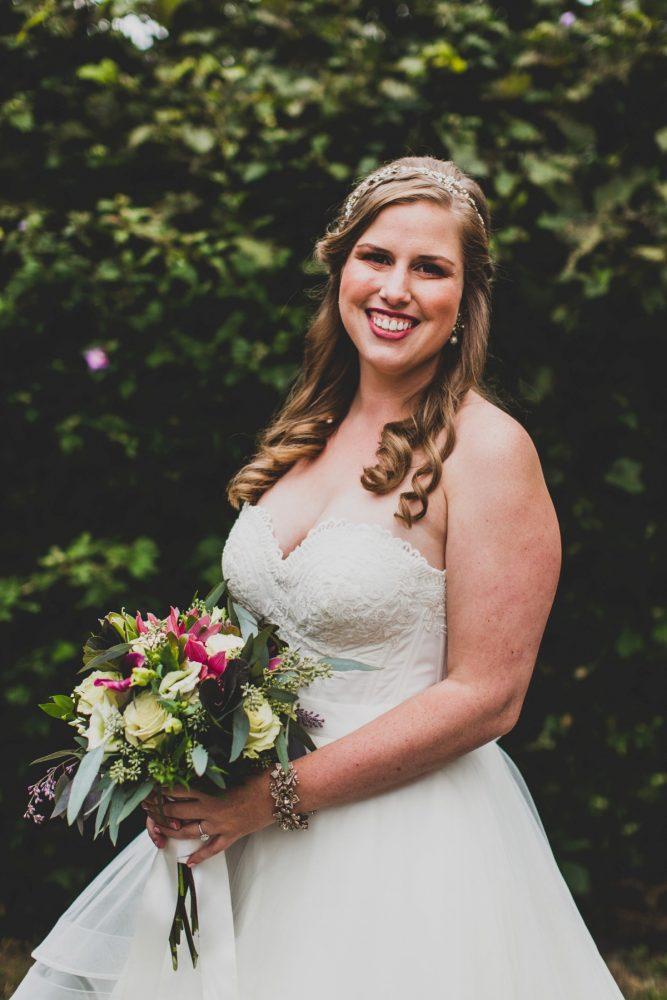 Pink Wedding Day Flower Bouquet for Bride: Fun Music Inspired Wedding from Ryan Zarichnak Photography featured on Burgh Brides