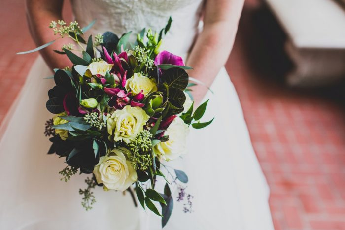 Pink and Green Wedding Day Flower Bouquet for Bride: Fun Music Inspired Wedding from Ryan Zarichnak Photography featured on Burgh Brides