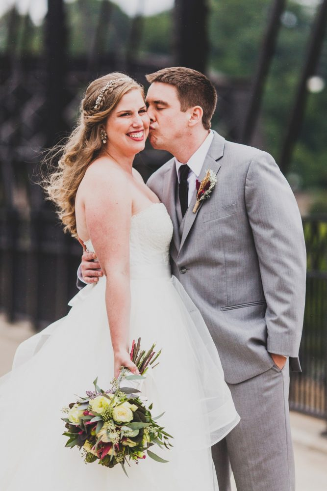 Romantic Wedding Day Portraits of Bride and Groom: Fun Music Inspired Wedding from Ryan Zarichnak Photography featured on Burgh Brides