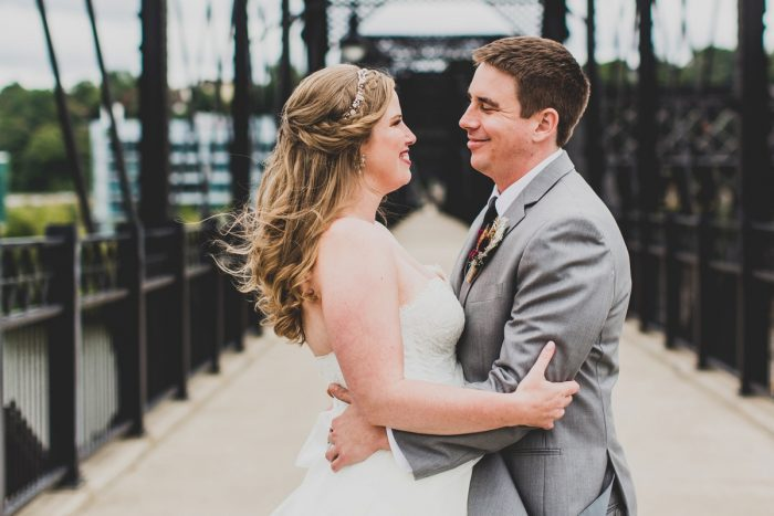 Downtown Wedding Day Portraits of Bride and Groom: Fun Music Inspired Wedding from Ryan Zarichnak Photography featured on Burgh Brides
