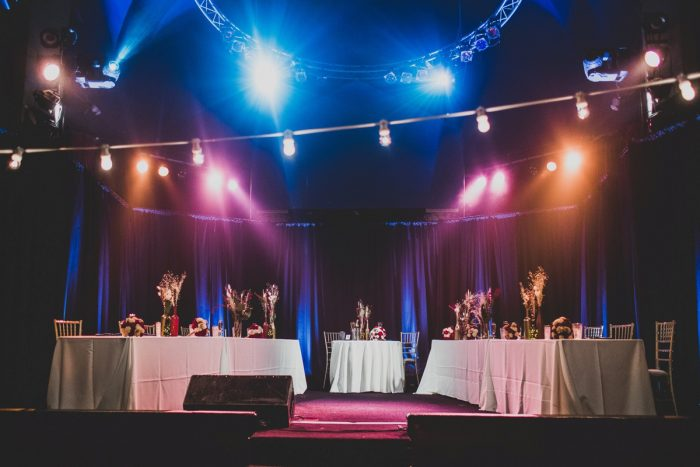 Wedding Sweetheart Table Ideas: Fun Music Inspired Wedding from Ryan Zarichnak Photography featured on Burgh Brides
