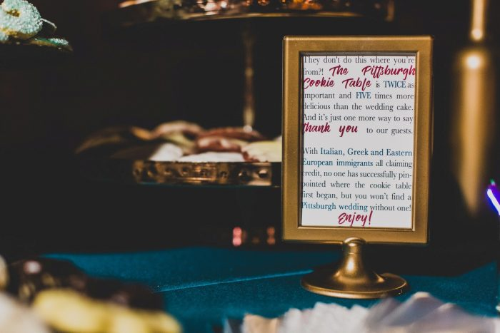 Pittsburgh Cookie Table at Wedding: Fun Music Inspired Wedding from Ryan Zarichnak Photography featured on Burgh Brides