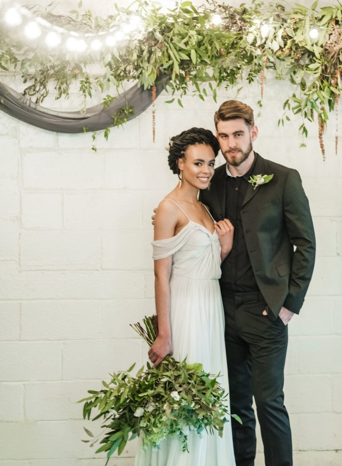 Green & White Spring Inspired Wedding Styled Shoot from Dawn Derbyshire Photography featured on Burgh Brides