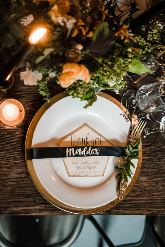 Industrial Chic Wedding Reception Tablescape Ideas: Green & White Spring Inspired Wedding Styled Shoot from Dawn Derbyshire Photography featured on Burgh Brides