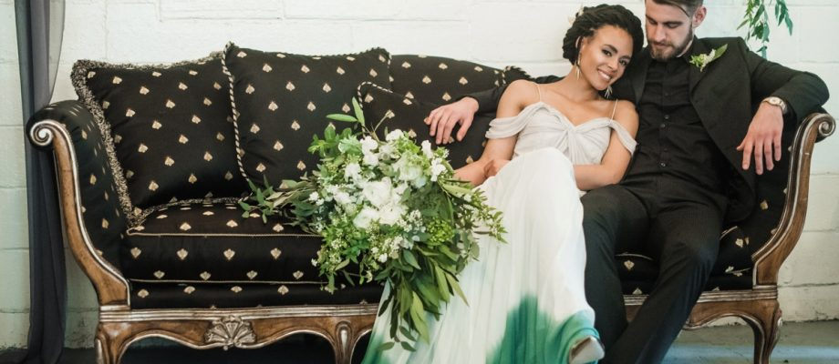 Green & White Spring Inspired Wedding Styled Shoot