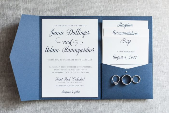 Navy Blue Wedding Invitations: Navy & Burgundy Wedding from Madeline Jane Photography featured on Burgh Brides
