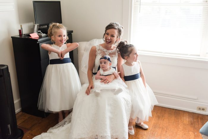 Navy Blue & White Flower Girl Dresses: Navy & Burgundy Wedding from Madeline Jane Photography featured on Burgh Brides