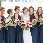 Navy Blue Bridesmaids Dresses: Navy & Burgundy Wedding from Madeline Jane Photography featured on Burgh Brides