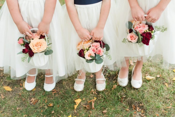 Flower Girl Ideas: Navy & Burgundy Wedding from Madeline Jane Photography featured on Burgh Brides