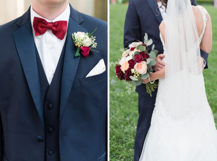 Navy Blue & Burgundy Wedding Day Details: Navy & Burgundy Wedding from Madeline Jane Photography featured on Burgh Brides