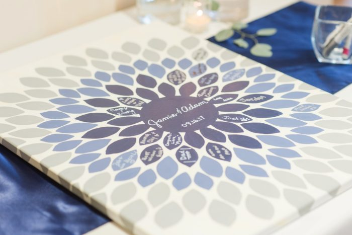 Wedding Guest Book Ideas: Navy & Burgundy Wedding from Madeline Jane Photography featured on Burgh Brides