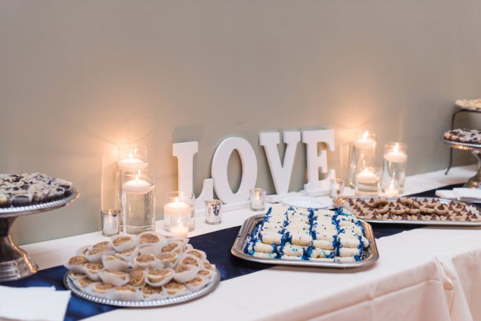 Pittsburgh Cookie Table Ideas: Navy & Burgundy Wedding from Madeline Jane Photography featured on Burgh Brides