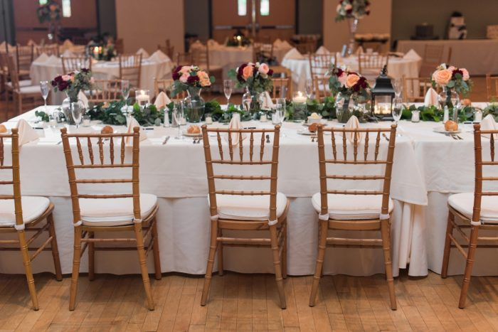 Burgundy & Peach Wedding Flowers Centerpieces: Navy & Burgundy Wedding from Madeline Jane Photography featured on Burgh Brides