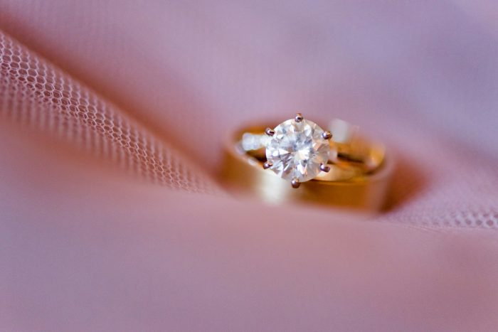Round Diamond Engagement Ring: Warm Earthy Wedding from Leeann Marie Wedding Photographers featured on Burgh Brides