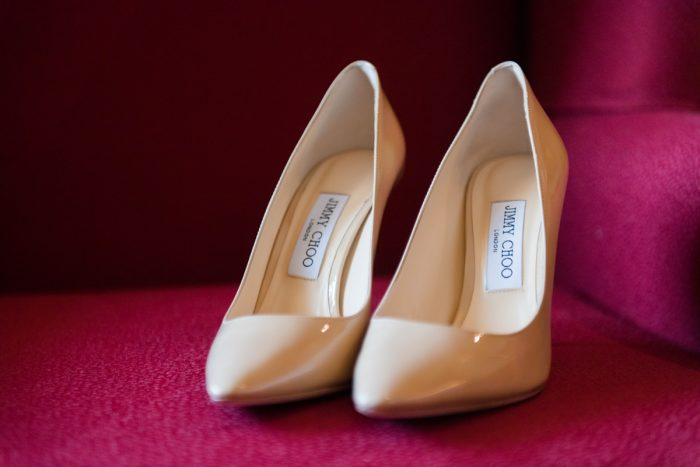 Nude Pointy Toe Jimmy Choo Heels Wedding Day Shoes for Bride: Warm Earthy Wedding from Leeann Marie Wedding Photographers featured on Burgh Brides
