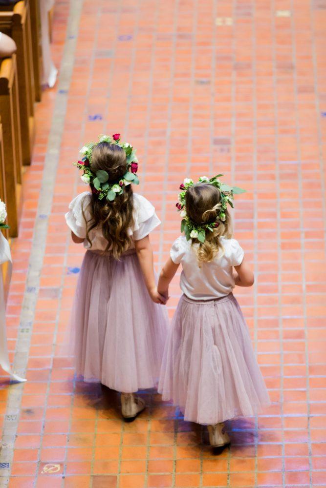 Flower Girls with Flower Crowns: Warm Earthy Wedding from Leeann Marie Wedding Photographers featured on Burgh Brides