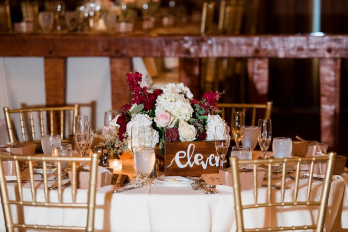 Hand Painted Wooden Table Numbers: Warm Earthy Wedding from Leeann Marie Wedding Photographers featured on Burgh Brides
