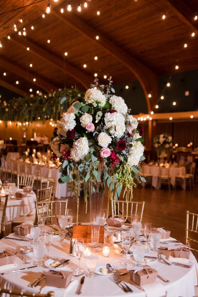 Elevated Floral Centerpieces for Wedding Reception: Warm Earthy Wedding from Leeann Marie Wedding Photographers featured on Burgh Brides