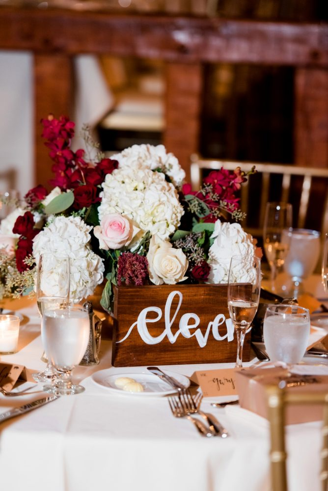 White & Marsala Flowers Centerpieces Wedding Reception Decor: Warm Earthy Wedding from Leeann Marie Wedding Photographers featured on Burgh Brides