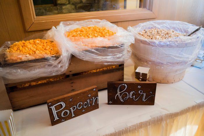 Popcorn Bar at Wedding: Warm Earthy Wedding from Leeann Marie Wedding Photographers featured on Burgh Brides