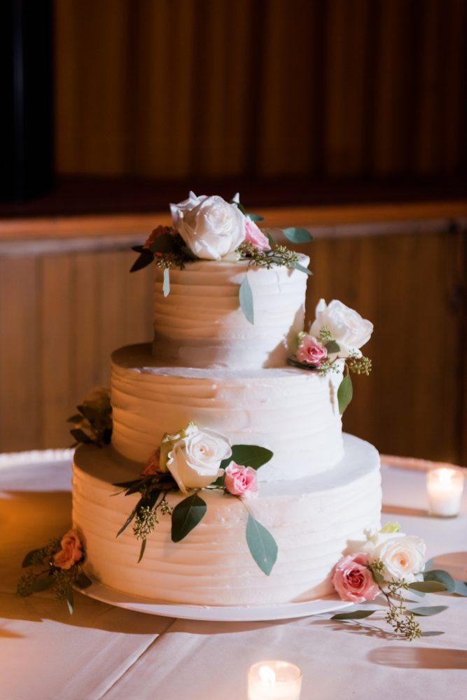 Tiered Buttercream Wedding Cake: Warm Earthy Wedding from Leeann Marie Wedding Photographers featured on Burgh Brides