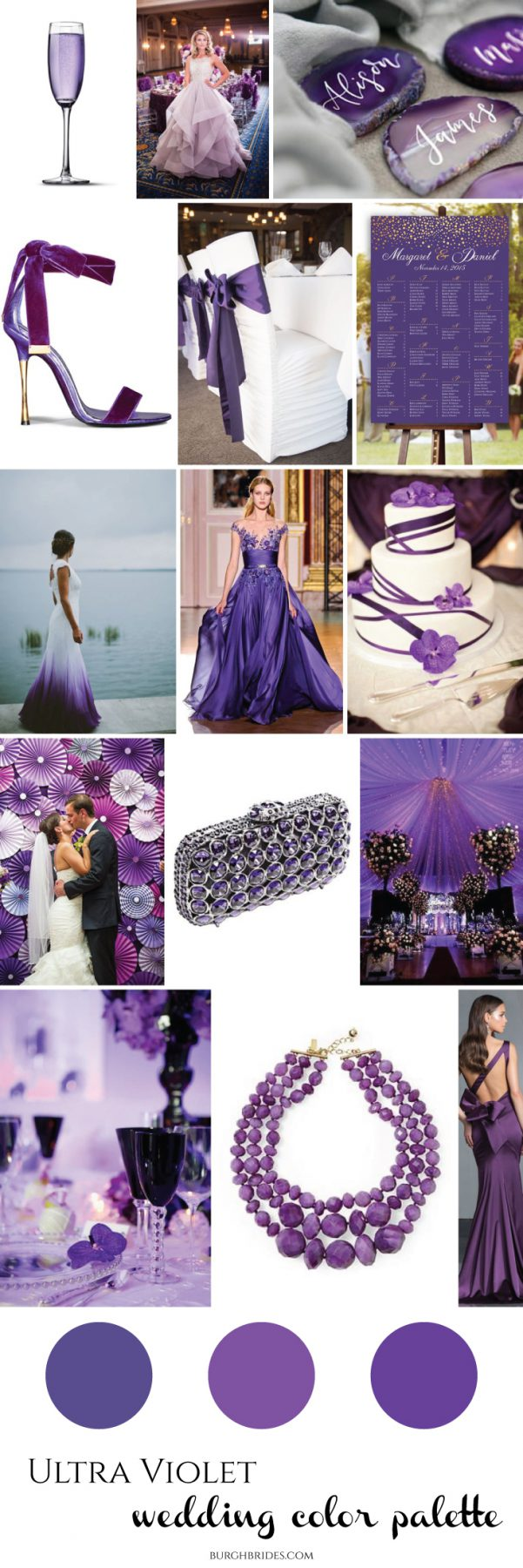 Ultra Violet Wedding Inspiration from Burgh Brides: 2018 Pantone Color of the Year