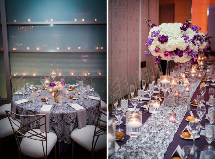 Purple Wedding Ideas: Contemporary Purple & Silver Wedding at the Fairmont Pittsburgh Hotel from Leeann Marie Wedding Photographers featured on Burgh Brides