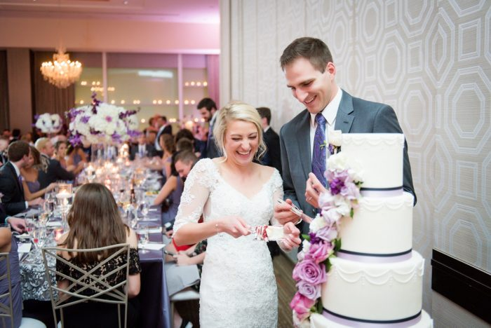 Contemporary Purple & Silver Wedding at the Fairmont Pittsburgh Hotel from Leeann Marie Wedding Photographers featured on Burgh Brides
