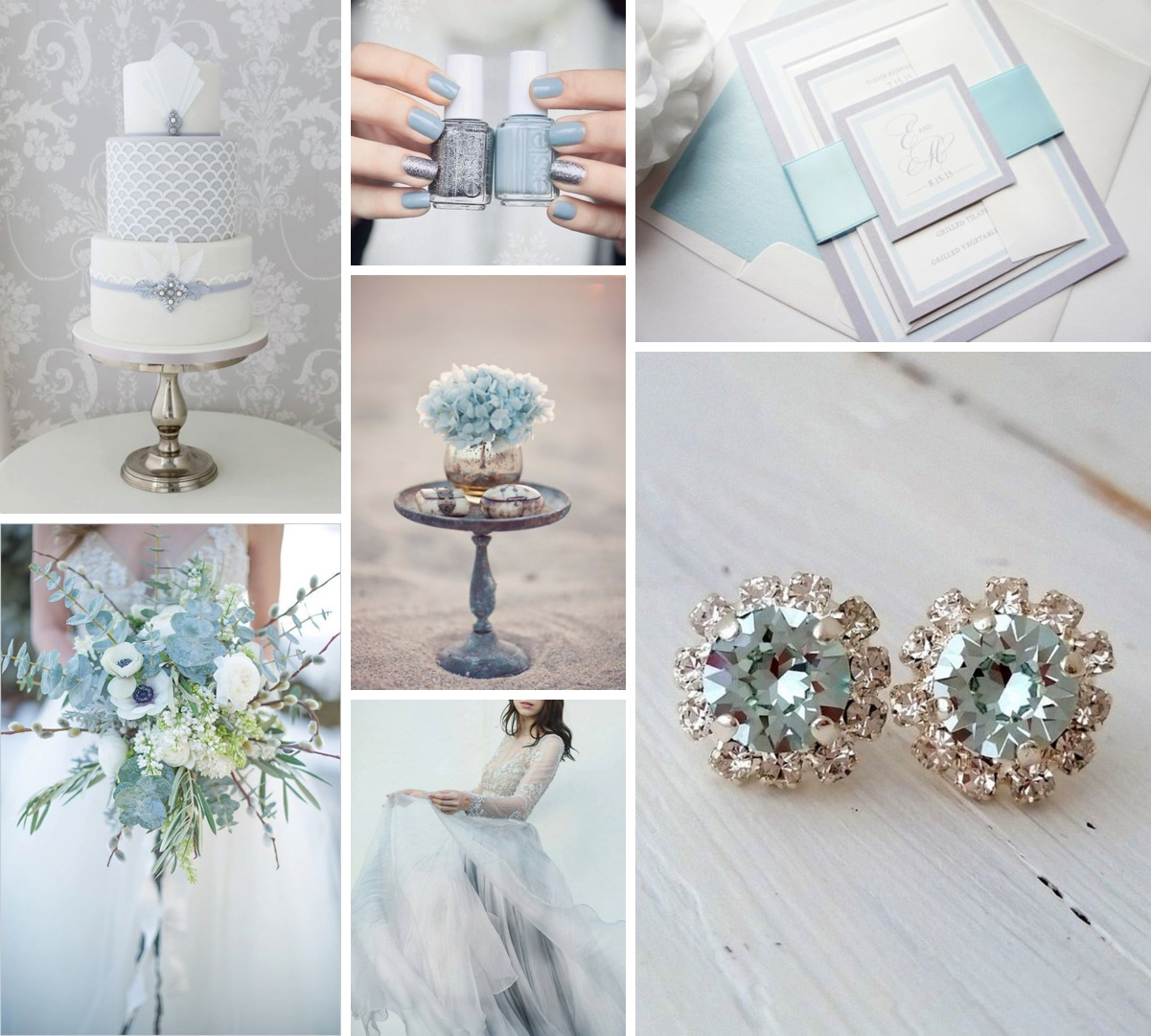 Ice Blue & Silver Wedding Inspiration Perfect for a Winter Day ...