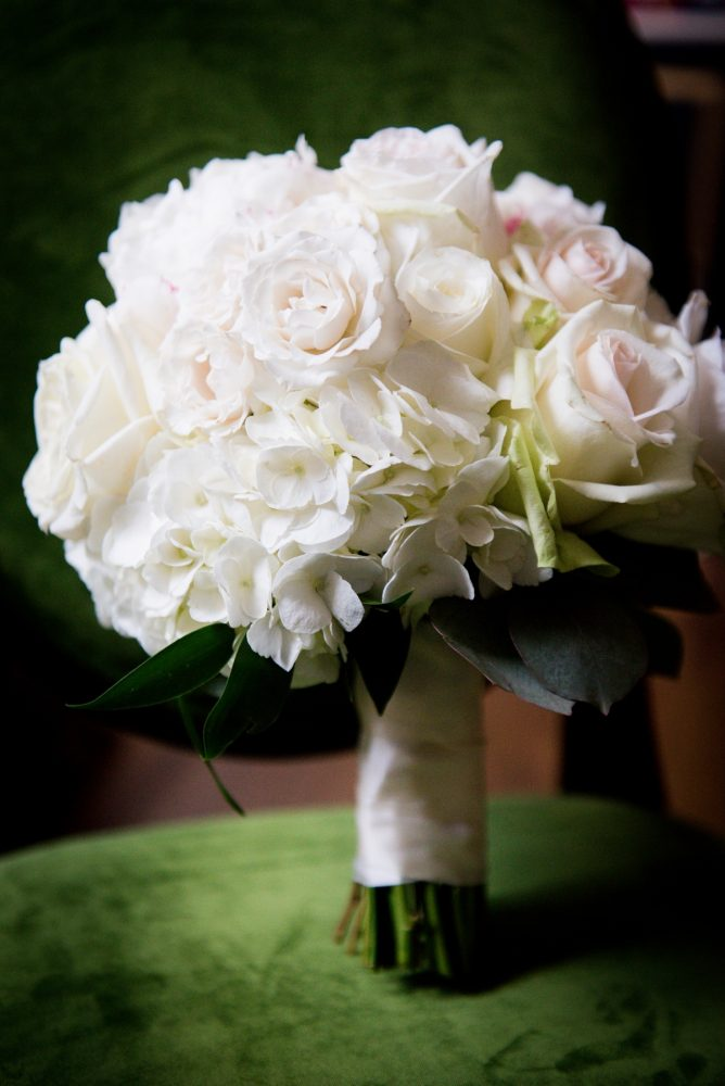 White & Blush Wedding Bouquet for Bride: Lavish City Wedding from Poppy Events & Leeann Marie, Wedding Photographers featured on Burgh Brides