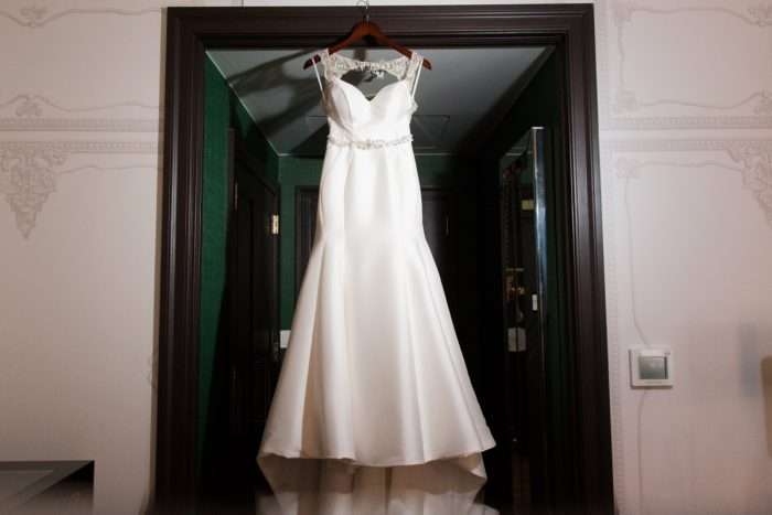 Trumpet Shaped Satin Wedding Dress: Lavish City Wedding from Poppy Events & Leeann Marie, Wedding Photographers featured on Burgh Brides