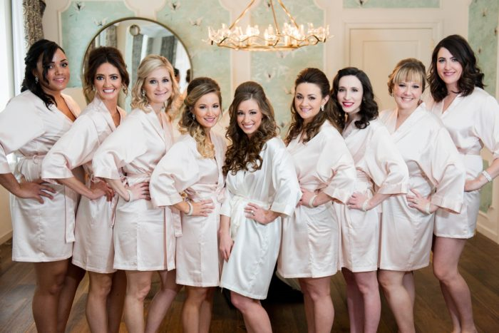 Monogrammed Robes for Bride and Bridesmaids: Lavish City Wedding from Poppy Events & Leeann Marie, Wedding Photographers featured on Burgh Brides